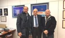 رئيس الاتحاد اللبناني للرماية والصيد بيار جلخ يزور روما لعدة ايام