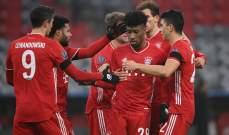 بايرن الاكثر تسجيلاً في دوري ابطال اوروبا هذا الموسم