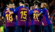 ابرز احصاءات مباراة برشلونة وفياريال