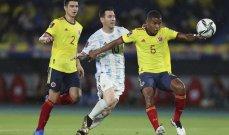 تقييم اداء لاعبي مباراة الأرجنتين-كولومبيا
