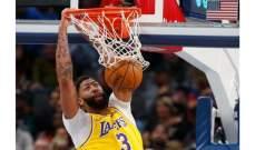 ديفيس: لن اشارك في منافسات dunk في اسبوع كل النجوم