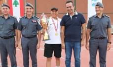 بطولة قوى الأمن الداخلي في التنس : اللقب للنقيب الدقدوقي