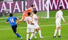 كييزا أفضل لاعب في مباراة ايطاليا واسبانيا