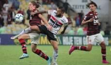 فلامينغو يحافظ على الصدارة بعد التعادل مع ساوباولو
