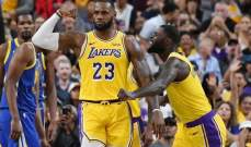 NBA: غولدن ستايت يسقط امام الليكرز وميلووكي يعزز وصفاته