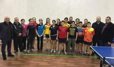 تحضيرات منتخب لبنان المدرسي في كرة الطاولة مستمرة قبل البطولة العربية