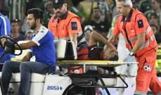 اصابة قوية لظهير اشبيلية ، ميركادو