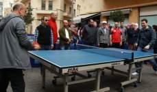 """نجاح كبير لـ""""يوم كرة  الطاولة"""" في ساحة النجمة"""