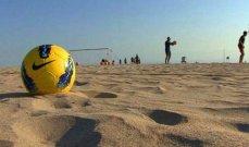 كرة شاطئية: شباب الجناح يكتسح الهومنتمن انطلياس بخماسية