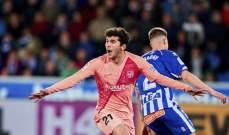 قائمة برشلونة لمواجهة اتلتيكو مدريد