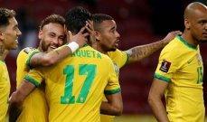 البرازيل تتخطى الاكوادور بثنائية نظيفة بتصفيات مونديال قطر