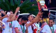 شباب بلوزداد يتوج بلقب كأس الجزائر