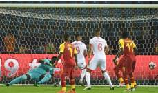 مباراة غانا وبنين تشهد أول حالة طرد واسرع هدف في كأس امم افريقيا