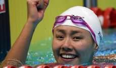 سباحة صينية تحطم الرقم القياسي لسباق 50 م ظهرا