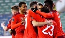 تصفيات كأس العالم: سويسرا تتخطى بلغاريا وفوز الدنمارك