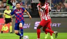 ارقام من مباراة برشلونة - اتلتيكو مدريد