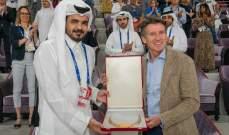 الاتحاد الدولي لالعاب القوى يمنح امير قطر الوسام الذهبي
