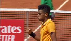 بطولة برشلونة للتنس: الجزيري خارج المنافسة على يد فيلكس اوجيه