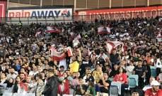 كم بلغ عدد الحضور الجماهيري في مباراة أستراليا ولبنان؟