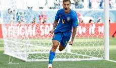 كوتينيو افضل لاعب في مباراة البرازيل وكوستاريكا