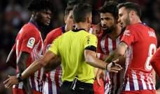 ماذا قال دييغو كوستا لحكم اللقاء ليتلقى البطاقة الحمراء ؟