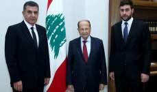 مدافع العهد إلى جانب رئيس الجمهورية اللبنانية