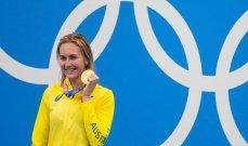 اولمبياد طوكيو - سباحة: الأسترالية أريان تيتموس تحصد الميدالية الذهبية الثانية