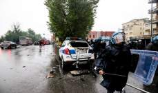 5 اعتقالات حرق سيارة شرطة واصابة شرطيين بعد اشتباكات جماهير اتالانتا ولاتسيو