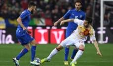 التعادل يحسم وديّة ايطاليا واسبانيا، وفوز تركيا على السويد