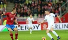 التشيك يفوز وديا على بولندا وليفاندوفسكي