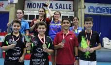 بطولة لبنان في كرة الطاولة : لقب الاشبال للهبش وعازار