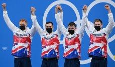 بريطانيا تحرز ذهبية التتابع أربع مرات 200 م حرة في السباحة بطوكيو