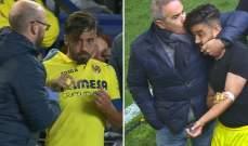كوستا يتعارك مع طبيب الفريق خلال مباراة بلباو