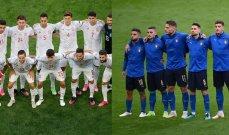 التشكيلة المتوقعة لنصف نهائي اليورو بين ايطاليا واسبانيا