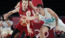 سلوفينيا تتخطى المانيا الى نصف نهائي كرة سلة طوكيو 2020
