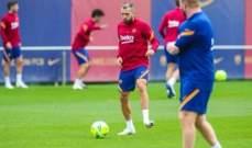 جوردي البا يتواجد في تدريبات برشلونة