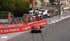 فيتيل يتعرّض لحادث في الحصة الثالثة في موناكو