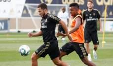 عودة ثلاثي مدريد المصاب الى تدريبات الفريق