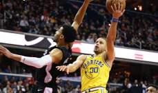NBA: ووريورز يفوز على ويزيردز وكوري يسجّل 38 نقطة