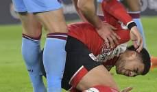غياب نجم ساوثاميتون عن لقاء ليفربول بسبب اصابة في الرأس