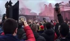 اليويفا قرر معاقبة جمهور ليفربول بعد احداث حافلة السيتي