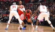 NBA: الانتصار الرابع عشر المتتالي لهيوستن وتورنتو يحافظ على الصدارة