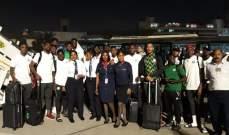 منتخب نيجيريا يصل مصر استعدادا لكأس الأمم الافريقية