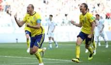 أول هدف للسويد من ركلة جزاء في كأس العالم منذ عام 2002