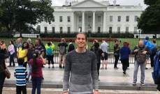 فيليبي لويز أمام البيت الأبيض