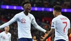 سانشو وابراهام يعودان إلى تشكيلة إنكلترا أمام بلجيكا