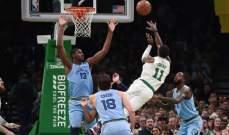 NBA : سيلتيكس يفوز على غريزليز و38 نقطة لكيري ارفينغ