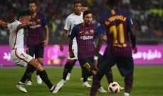 ما السبب الذي قد يسمح لتأجيل مباراة برشلونة واشبيلية ؟