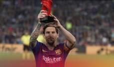 ميسي يفوز بجائزة افضل لاعب في شهر أذار
