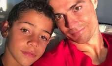 ابن كريستيانو رونالدو يحظى بوشمه الاول